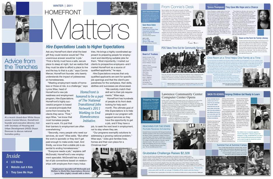 image of nonprofit newsletter design community non profit newsletter